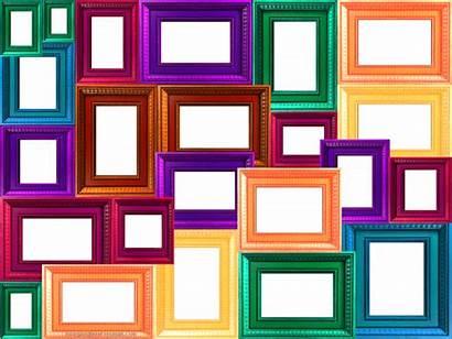 Collage Frame Frames Colorful Transparent Window Scrapbook