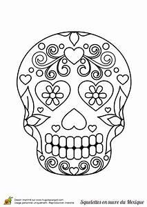 Crane Mexicain Dessin : coloriage squelette sucre coeurs fleuris sur coloriage ~ Melissatoandfro.com Idées de Décoration