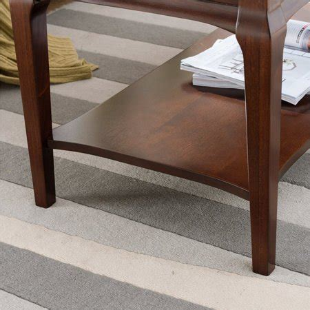 The baristas were very sweet. Leick Home Stratus Coffee Table with Display Shelf in ...