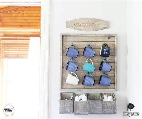 wall mounted coffee bar walnuthollowcrafts