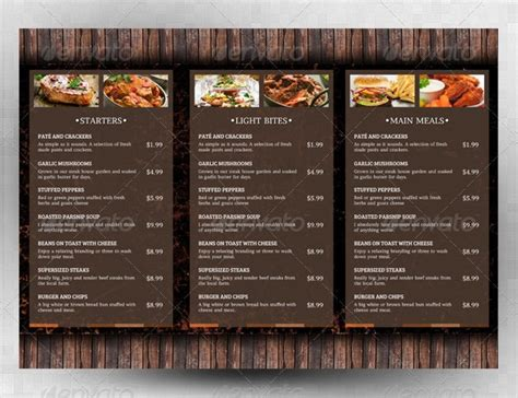 menu template   psd eps ai indesign word