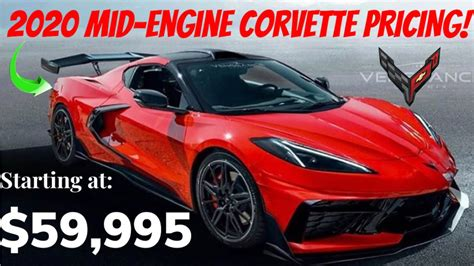 pricing  revealed   wouldnt order   corvette