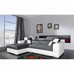 Canapé D Angle Gris Pas Cher : canap d angle gris et blanc pas cher 2 id es de ~ Melissatoandfro.com Idées de Décoration