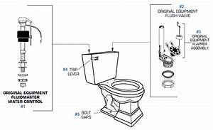 American Standard Toilet Repair Parts For Town Square