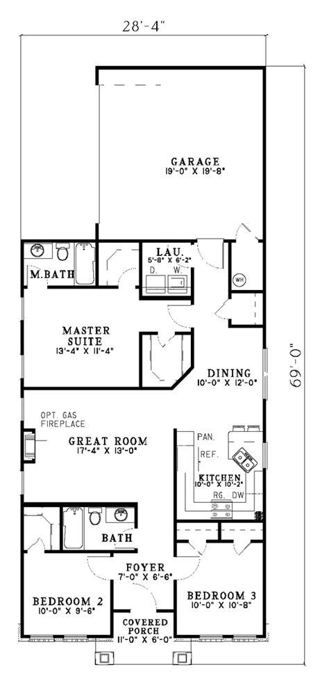 house plans narrow lot hemistone narrow lot ranch home plan 055d 0225 house