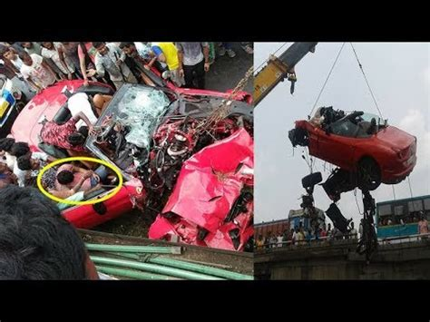 7 real and ghastly ferrari car crash accident cases. Ferrari car accident at Howrah Salap Highway - YouTube
