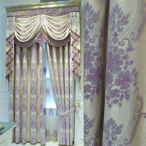 lilac curtains exquisite linen fabric full blackout curtain in lilac jacquard craft