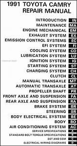 1991 Toyota Camry Repair Shop Manual Original