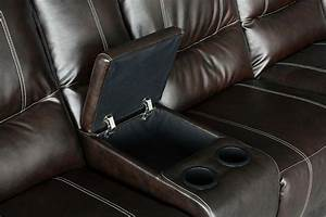 Keystone brown leather plush 3 recliners cup holders for Sectional recliner sofa with cup holders in chocolate microfiber