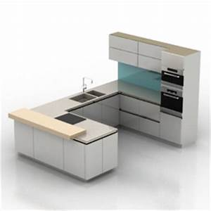 3d kitchen furniture kitchen n210712 3d model gsm for Kitchen furniture 3ds max free