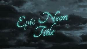 epic neon title apple motion 5 template With motion 5 title templates