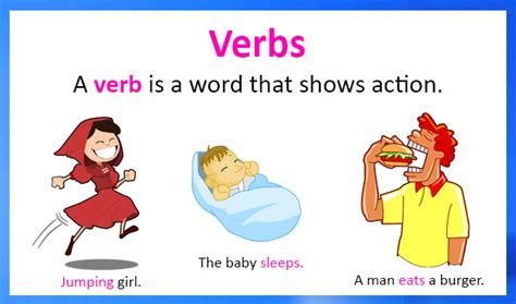 verbs definition types examples  worksheets