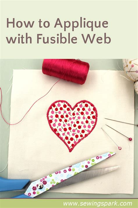How To Sew Applique by How To Appliqu 233 With Fusible Web Sewing Spark