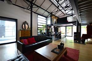 Loft industriel avec structure metallique for Loft industriel