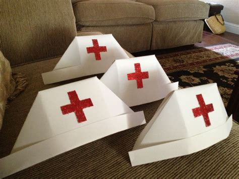 nursing hats   card stock nurse party nurse