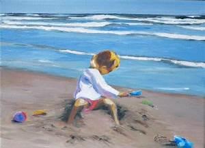 Tableaux Mer Et Plage : pat de sable paysages de bord de mer tableau peinture bois pinterest sable bord et ~ Teatrodelosmanantiales.com Idées de Décoration