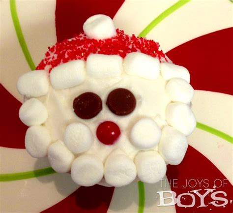 How To Decorate A Hat by Christmas Cupcakes Santa And Reindeer The Joys Of Boys