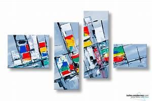 Tableau Moderne Coloré : tableau color abstrait constructions ph m res moderne ~ Teatrodelosmanantiales.com Idées de Décoration