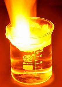 Sodium & water   Sodium reacting violently with water ...