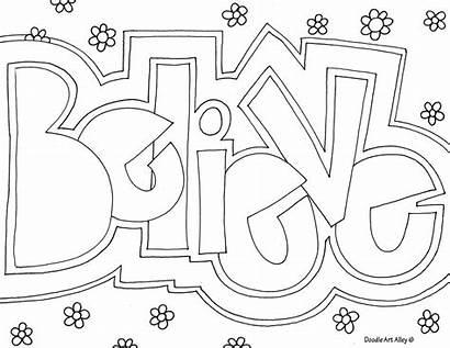 Coloring Word Doodle Believe Alley