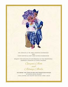 Nigerian Traditional wedding invitation Card, Yoruba