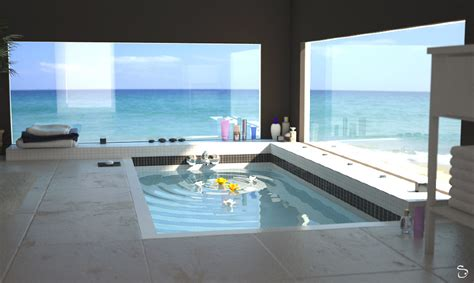 modern bathroom design ideas salle de bain sur plage 3drealms