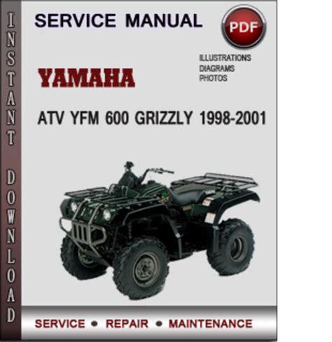 yamaha atv yfm 600 grizzly 1998 2001 factory service repair manual