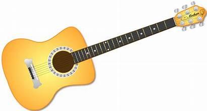 Guitar Clip Acoustic Clipart Fretboard Cliparts Arts
