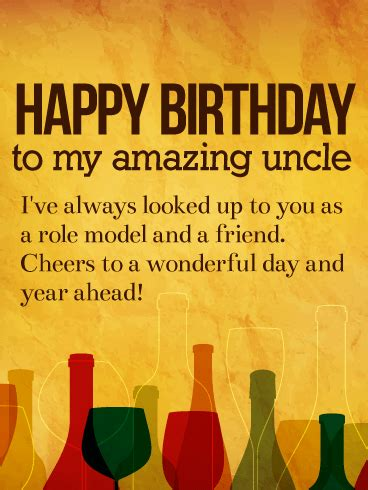 amazing uncle happy birthday wishes card