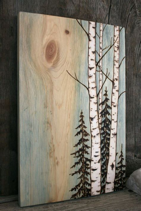 birch trees wood burning by 6130 best pyrography images on pyrography diy and waves