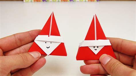 suesses nikolaus origami diy super niedliches origami fuer den nikolaus tag weihnachtsmann