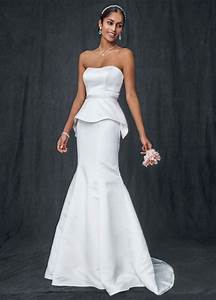 david39s bridal satin trumpet wedding dress with beaded With satin trumpet wedding dress