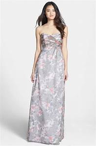 floral dresses for bridesmaids With printed wedding dress