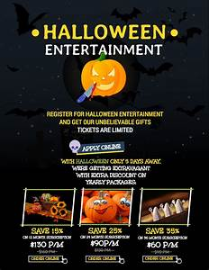 7 Spooky Halloween Flyer Templates