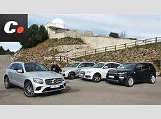 MercedesBenz GLC, BMW X3, Land Rover Discovery Sport
