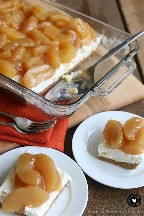 recipes with cheese desserts caramel apple cheese dessert hoosier