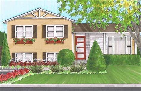 Photos And Inspiration Split Level Curb Appeal by Curb Appeal Split Level Curb Appeal Split Level Redo
