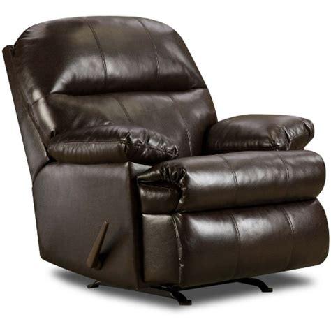 Oversized Rocker Recliner Leather by Simmons Riverside Bonded Leather Oversized Rocker Recliner