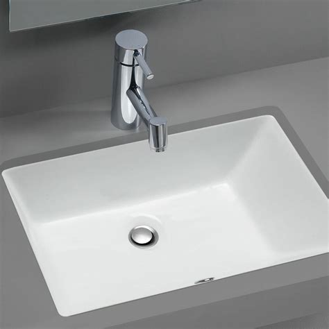 Rectangular Sinks Bathroom by Stahl Ceramic Medium Undermount Rectangular Bowl Bath Sink