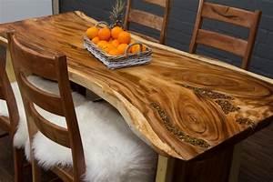 Baumstamm Als Tisch : baumstamm esstisch aus suar massivholz mit halbedelsteinen ~ Watch28wear.com Haus und Dekorationen