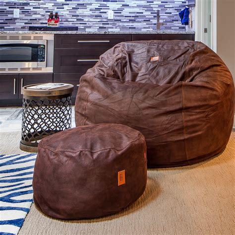 Cowhide Bean Bag by Convertible Bean Bag Chair Cowhide Coffee