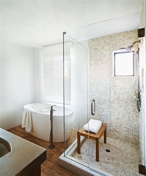 Pebble Tile Bathroom Ideas by 30 Cool Pictures And Ideas Pebble Shower Floor Tile