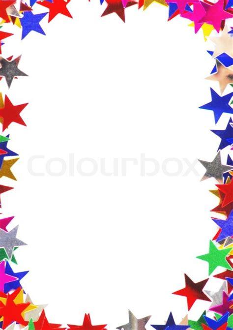 sterne geformt konfetti aus verschiedenen stockfoto