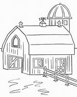Coloring Pages Homes Farm3 Easily sketch template