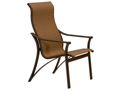 tropitone corsica sling aluminum high back dining chair