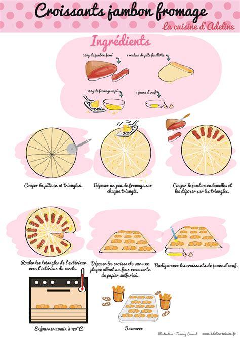 croissants jambon fromage recette illustr 233 e la cuisine d adeline