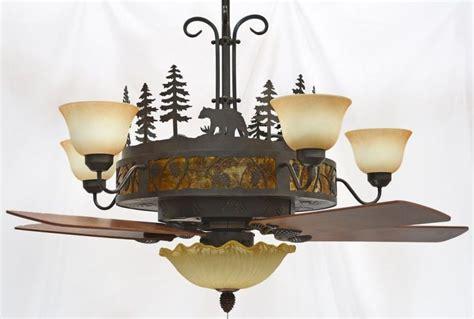ceiling fan with chandelier light cedarcrest chandelier ceiling fan rustic lighting and fans