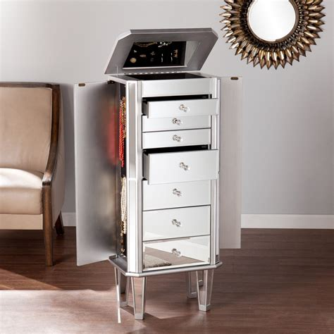 Large Mirror Jewelry Armoire by 25 Beautiful Mirrored Jewelry Armoires Zen Merchandiser