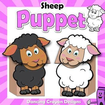 puppet sheep craft activity printable paper bag puppet