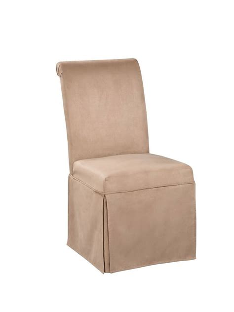 powell scroll back skirt parsons chair in sand